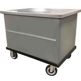Bayhead VT-20-C Plastic Container With Lid and Dolly 32-1/2x23x24-1/2