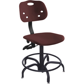 "BioFit ArmorSeat 24 Hour Antimicrobial Chair - 20 - 27"" Seat Ht. - Burgundy"