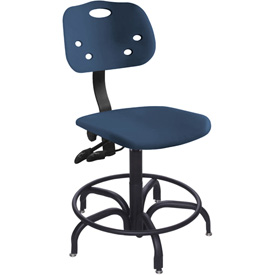 "Bio Fit 24 Hour Antimicrobial Stool - 22-27"" Seat Ht. Blue"