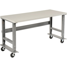 "48""W x 30""D Mobile Workbench - ESD Safety Edge - Gray"