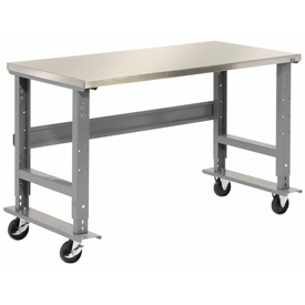 "48""W x 30""D Mobile Workbench - Stainless Steel"