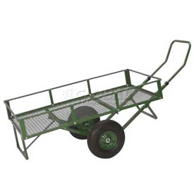 Dandux Flathauler Nursery Wagon Cart with Side Rails 42611 - 48 x 24 - 500 Lb. Cap.