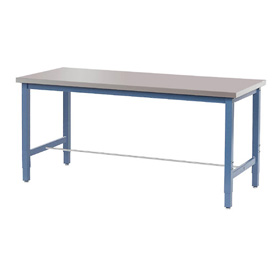 "60""W x 30""D Lab Bench - Stainless Steel Square Edge - Blue"