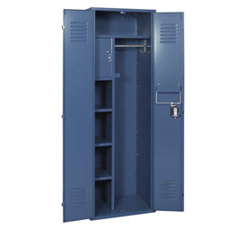 Penco 6MTJ173806 Vanguard Executive Locker 24x18x72 No Legs Ready To Assemble Marine Blue