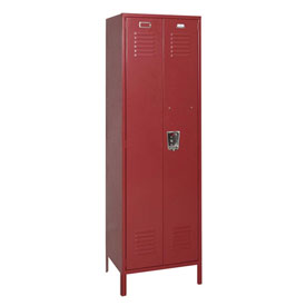 Penco 6MTJ174736 Vanguard Executive Locker 24x24x72 with Legs Ready To Assemble Burgundy