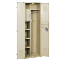 Penco 6MTJ175073 Vanguard Executive Locker 24x24x72 No Legs Ready To Assemble Champagne
