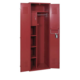 Penco 6MTJ170736 Vanguard Executive Locker 24x18x72 No Legs Assembled Burgundy