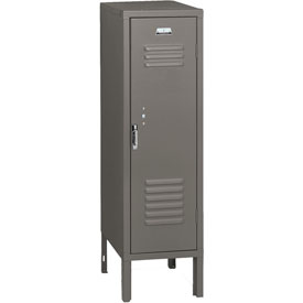 Penco 6129V028 Vanguard Half Height Locker 1 Wide 12x18x36-1/2 Unassembled Gray