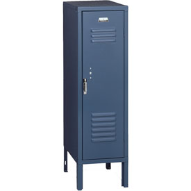 Penco 6129V806 Vanguard Half Height Locker 1 Wide 12x18x36-1/2 Unassembled Marine Blue