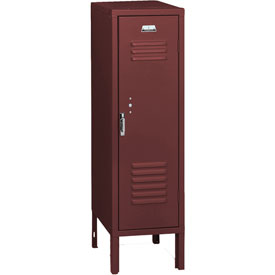 Penco 6129V736 Vanguard Half Height Locker 1 Wide 12x18x36-1/2 Unassembled Burgundy
