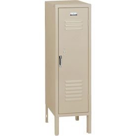 Penco 6187V073 Vanguard Half Height Locker 1 Wide 12x18x48-1/2 Unassembled Champagne