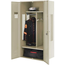 Penco 6KGDA00073 Patriot Gear Locker 24x24x72 Ready To Assemble Champagne
