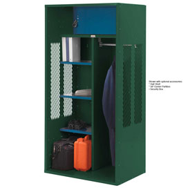 Penco 6KTDA00812 Patriot Turnout Locker 24x24x72 Ready To Assemble Hunter Green