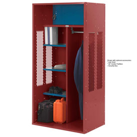 Penco 6KTDA10722 Patriot Turnout Locker 30x24x72 Ready To Assemble Patriot Red