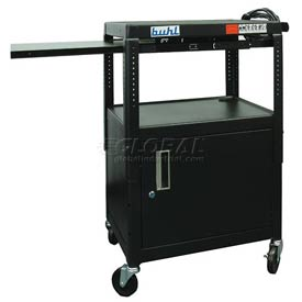 Buhl Audio Visual Cabinet Cart with One Side Pull-Out Shelf