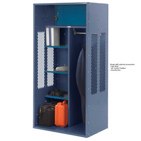Penco 6KTDA30806 Patriot Turnout Locker 42x24x72 Ready To Assemble Marine Blue