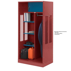 Penco 6WTDA40C722 Patriot Turnout Welded Locker 48x24x76 Patriot Red