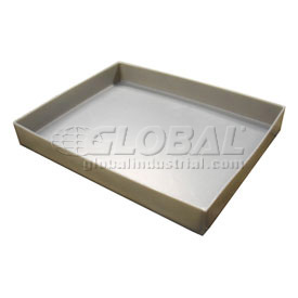 Rotationally Molded Plastic Tray 19-1/2x15-1/4x2-1/2 Gray
