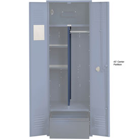 Penco 6CPX270C806 Center Partition For Patriot Locker with Bottom Shelf, 15Dx45H Marine Blue