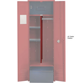 Penco 6CPX270C722 Center Partition For Patriot Locker with Bottom Shelf, 15Dx45H Patriot Red