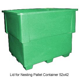 Bayhead IND-LID-GREEN Lid For Nesting Pallet Container 52x42 Green