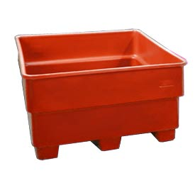 Bayhead SNP-44-RED Nesting Pallet Container 43x43x44 1200 Lb Cap. Red