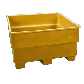Bayhead SNP-44-YELLOW Nesting Pallet Container 43x43x44 1200 Lb Cap. Yellow