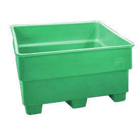 Bayhead SNP-44-GREEN Nesting Pallet Container 43x43x44 1200 Lb Cap. Green