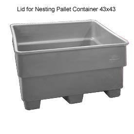 Bayhead SNP-LID-GRAY Lid for Nesting Pallet Container 43x43 Gray