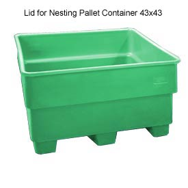 Bayhead SNP-LID-GREEN Lid For Nesting Pallet Container 43x43 Green