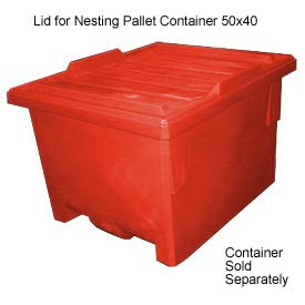 Bayhead KP-LID-RED Lid For Nesting Pallet Container 50x40 Red