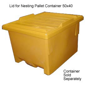 Bayhead KP-LID-YELLOW Lid For Nesting Pallet Container 50x40 Yellow