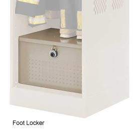 Penco 6ACXAB93H073 Foot Locker For Patriot Locker, 24x24x12 Gray