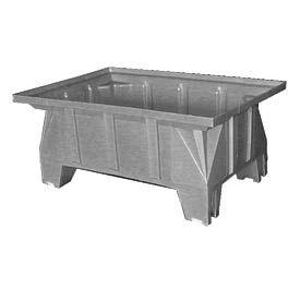 Bayhead HON-40-GRAY Stacking Pallet Container 40x28x18 600 Lb Cap. Gray