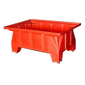 Bayhead HON-40-RED Stacking Pallet Container 40x28x18 600 Lb Cap. Red