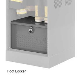Penco 6ACXAB95H8028 Foot Locker For Patriot Locker, 36x24x12 Gray