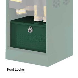 Penco 6ACXAB97H812 Foot Locker For Patriot Locker, 48x24x12 Green