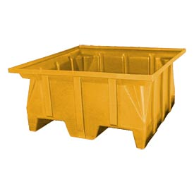Bayhead SKA-2-YELLOW Stacking Pallet Container 40x40x30 1000lb Cap Yellow