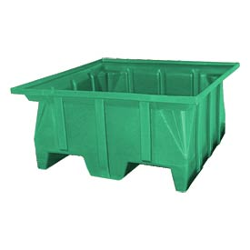 Bayhead SKA-2-GREEN Stacking Pallet Container 40x40x30 1000lb Cap Green