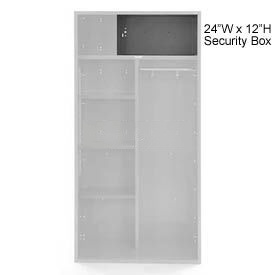 Penco 6ACXAB99H028 Security Box For Patriot Locker, 24Wx12H Gray