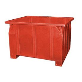 Bayhead GG-24-RED Stacking Pallet Container 47x42x24 800 Lb Cap. Red