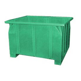 Bayhead GG-24-GREEN Stacking Pallet Container 47x42x24 800 Lb Cap. Green