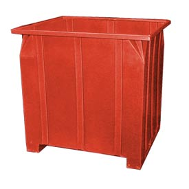 Bayhead GG-48-RED Stacking Pallet Container 47x42x48 1200lb Cap. Red