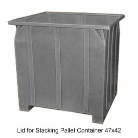 Bayhead GG -LID-GRAY Lid for Stacking Pallet Container 47x42 Gray
