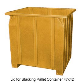 Bayhead GG -LID-YELLOW Lid For Stacking Pallet Container 47x42 Yellow