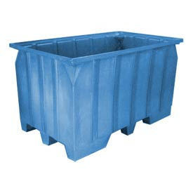 Bayhead AT7040-BLUE Stacking Pallet Container 73x43x42 1500lb Cap. Blue
