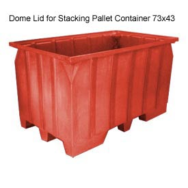 Bayhead AT-LID-RED Dome Lid For Stacking Pallet Container 73x43 Red