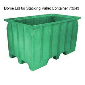 Bayhead AT-LID-GREEN Dome Lid For Stacking Pallet Container 73x43 Green