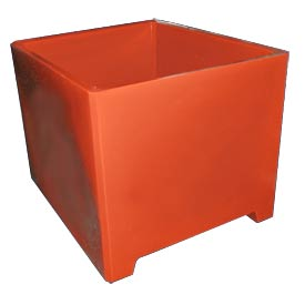 Bayhead DWP-37-RED Stacking Pallet Container 49x41x37 1200lb Cap. Red