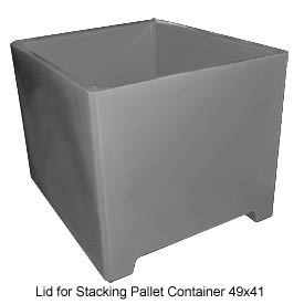 Bayhead DWP-37-LID-GRAY Lid for Stacking Pallet Container 49x41 Gray